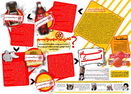پوستر تحریم کالاهای صهیونیستی