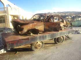 ماشینی که سید عباس شهید شد